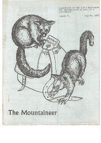 August 1968 Mountaineer