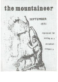 September 1971 Mountaineer
