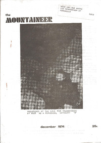 December 1974 Mountaineer