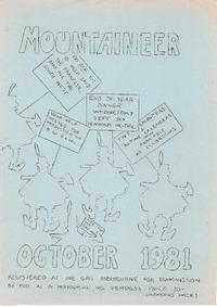 October 1981 Mountaineer
