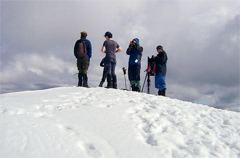 Snowy Summit of Mt Feathertop